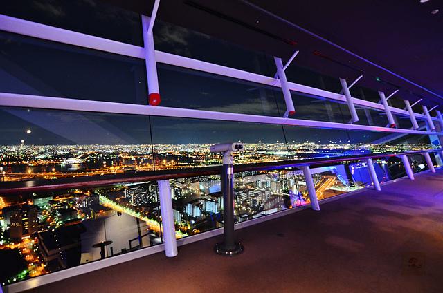 大阪府咲洲廳舍展望台, 大阪夜景,大阪自由行, 大阪景點推薦