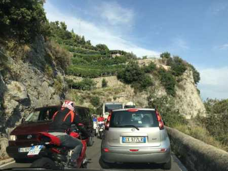 driving on the Amalfi Coast