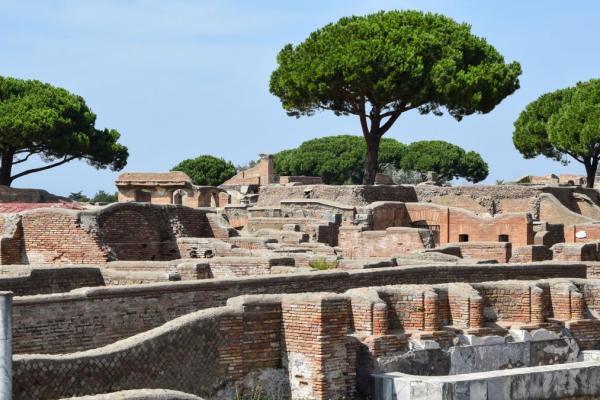 brick remnants of a roman town