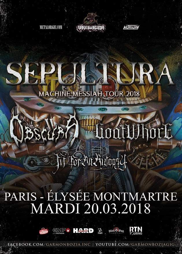 Sepultura + Obscura + Goatwhore + Fit For An Autopsy