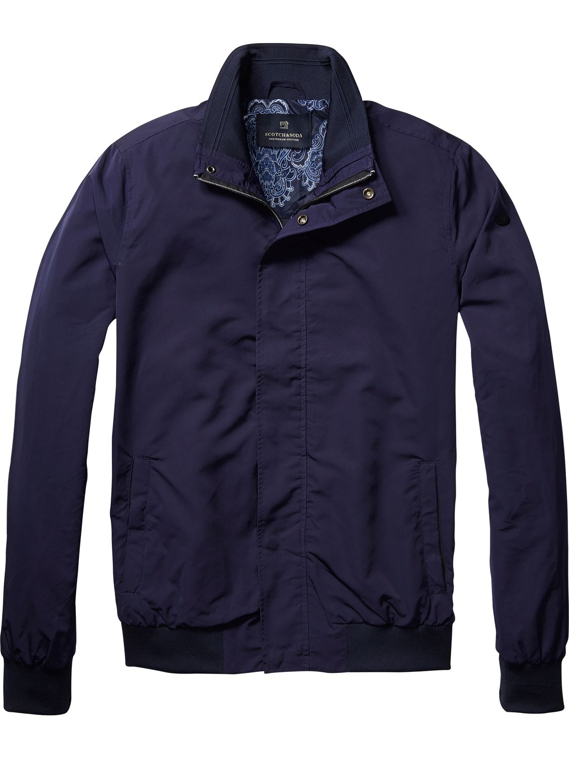 Veste Navy Harrington classique Scotch&Soda