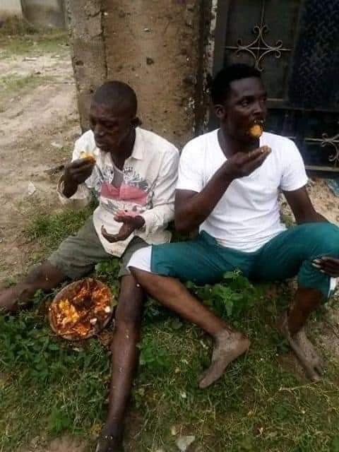 3 Men Carrying Sacrifice In Ikorodu, Forced To Eat It (See Photos)
