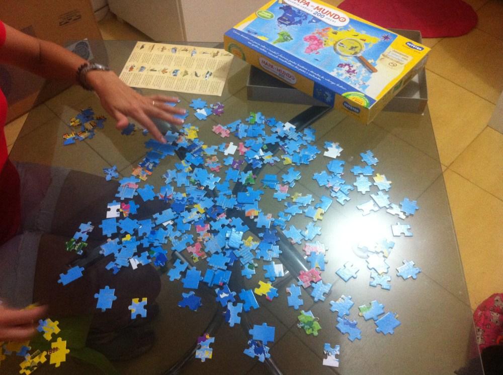 Brinquedo: Mapa Múndi - Quebra cabeça 200 peças (1/6)