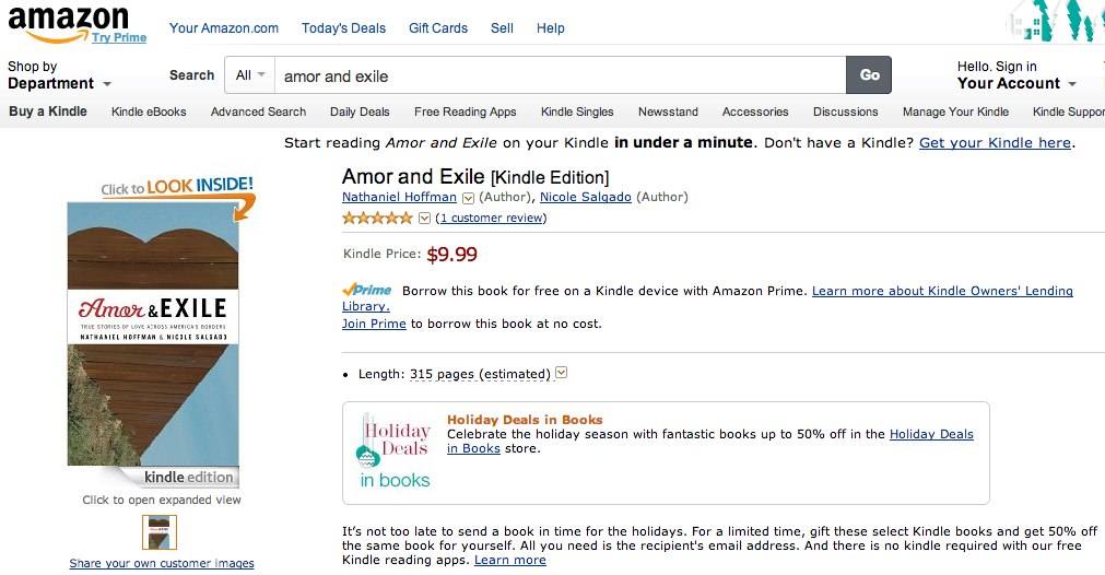 Amor and Exile Kindle version