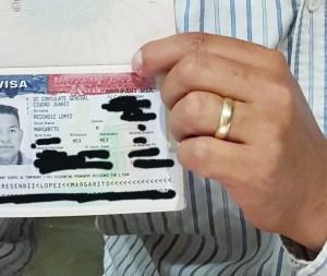 Visa in hand