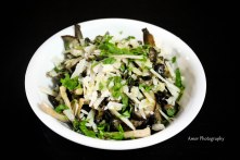 Roasted mushrooms & manchego