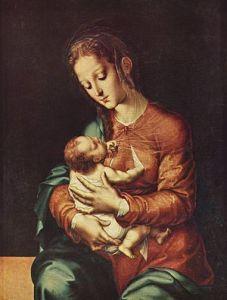 Luis de Morales. Virgen de la leche. 1570.