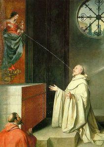 Premio lácteo a San Bernardo (1646- 1650) pintado por Alonso Cano