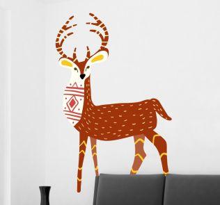 vinilo-decorativo-ilustracion-ciervo-7779