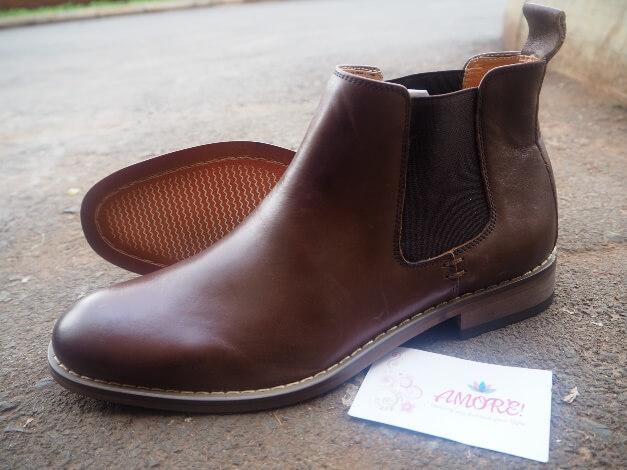 Coffee chelsea boot