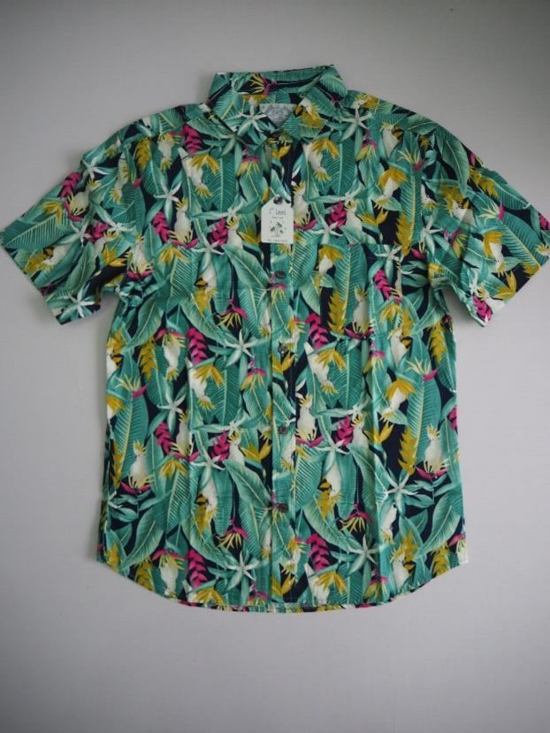 Grass Green Floral Shirt