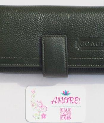 Jungle Green Coach Wallet