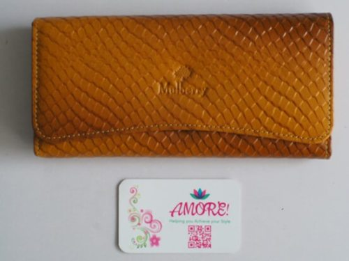 Mustard Croco Leather Wallet