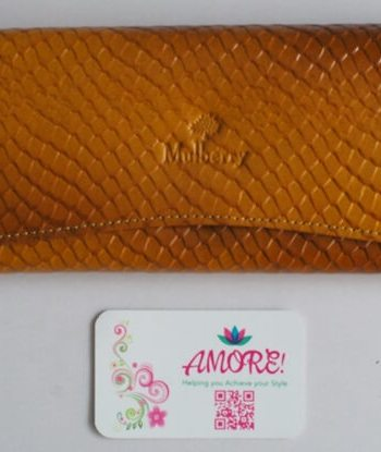 Mustard Croco Leather Wallet