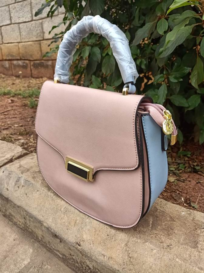 Pink blue sling bag