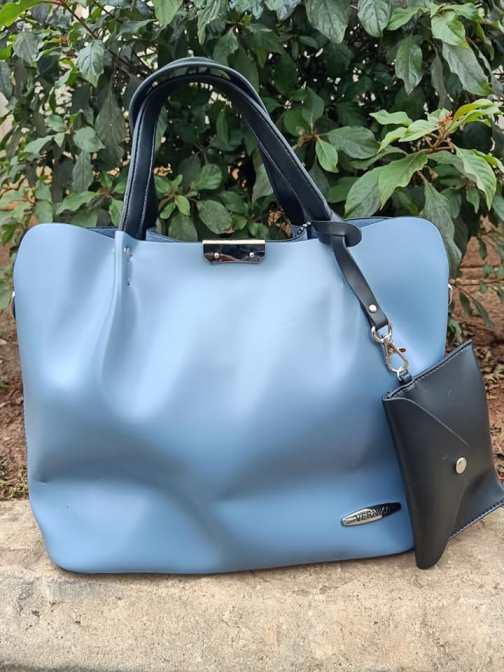 Sky blue blue strap bag