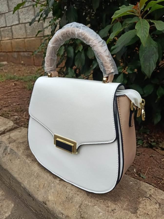 White beige sling bag