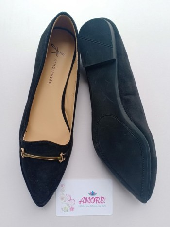 Black suede doll shoe