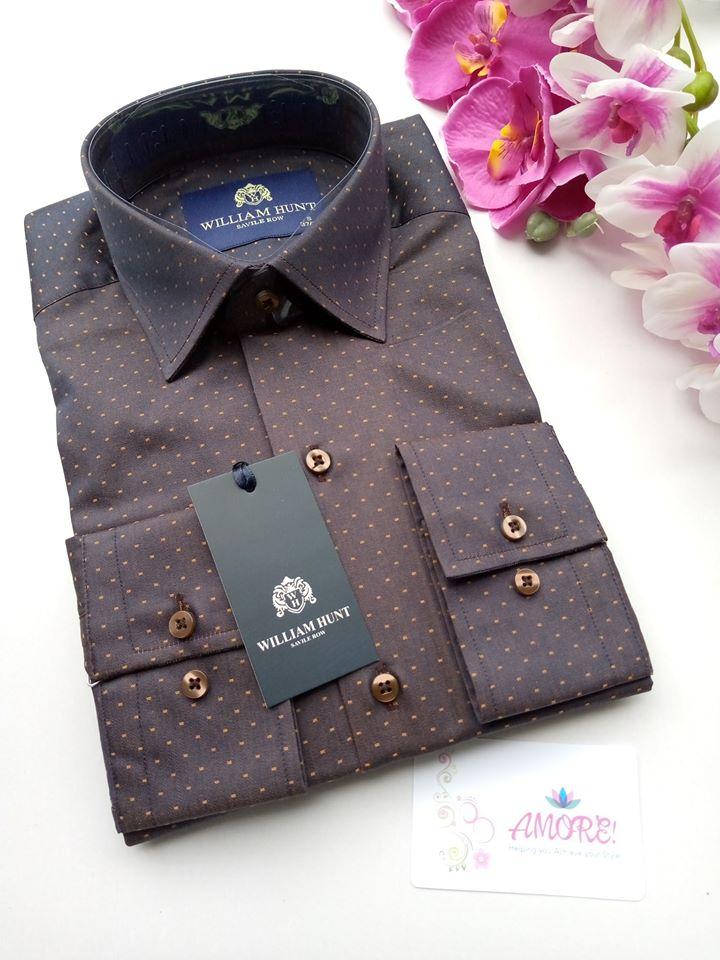 Brown polk shirt