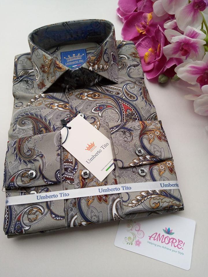 Grey floral shirt