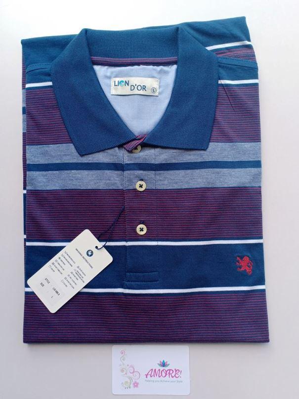 Pink blue polo tshirt