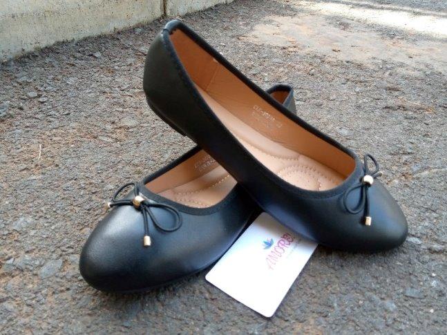 Black plain doll shoe