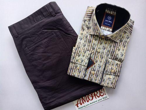 1 shirt and 1 khaki 25