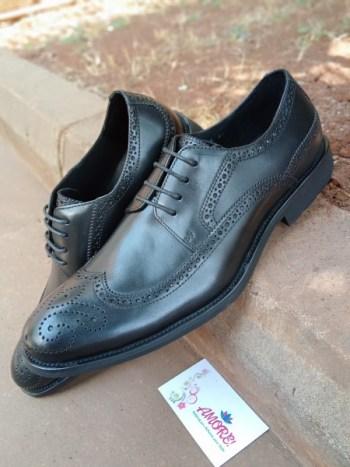 Black oxford suit shoe