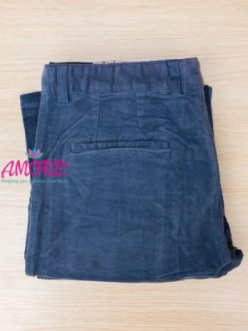 Blue corduroy khaki