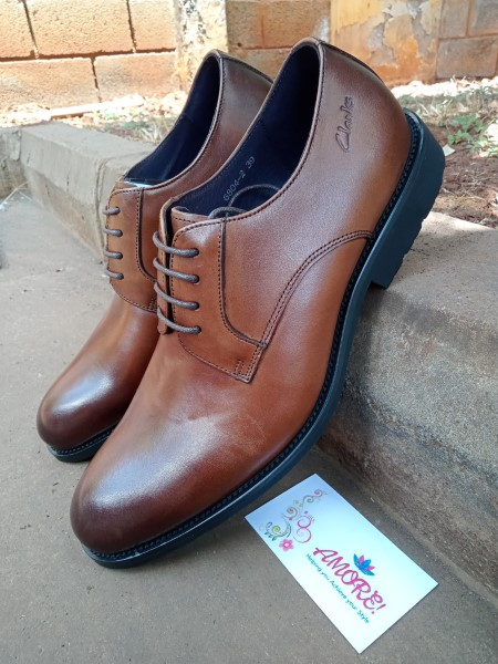 Coffee brown suit shoe