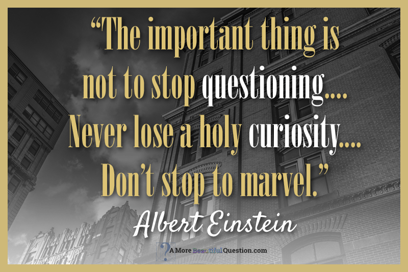 Einstein and questioning ~ A More Beautiful Question by Warren Berger
