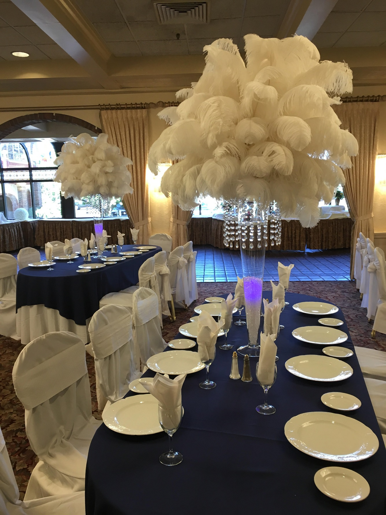 rent wedding decorations ostrich feather centerpiece rental weddings sweet 16 7065