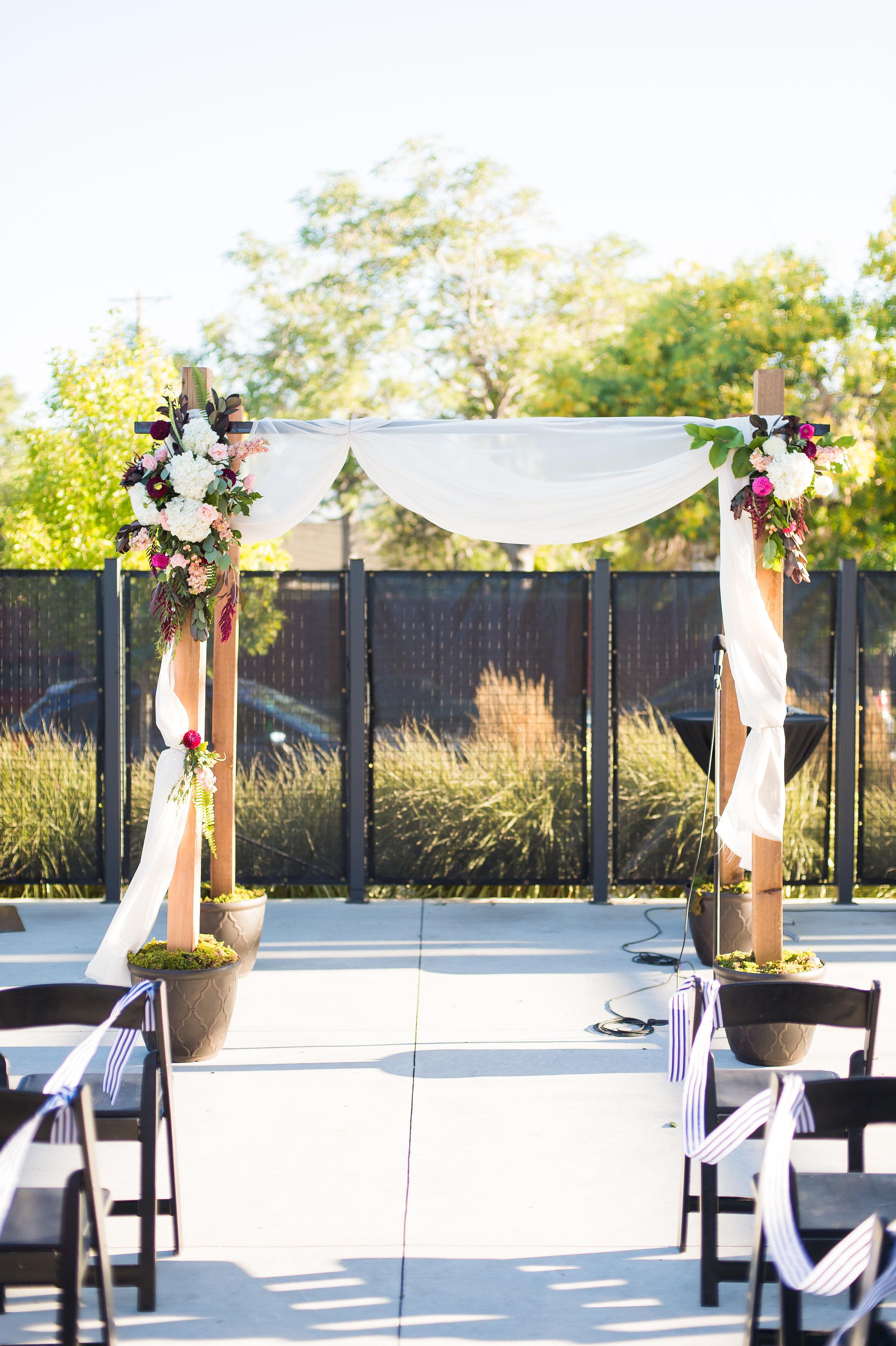 a september wedding at the space gallery in denver colorado