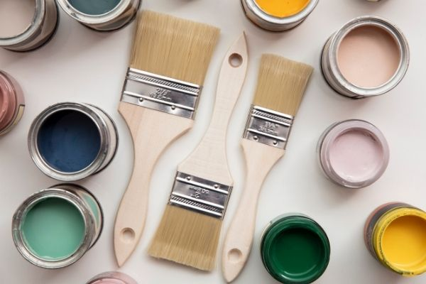 paint brushes and roller for DIY at home
