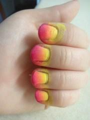 summer sunset ombre nails amorelesley