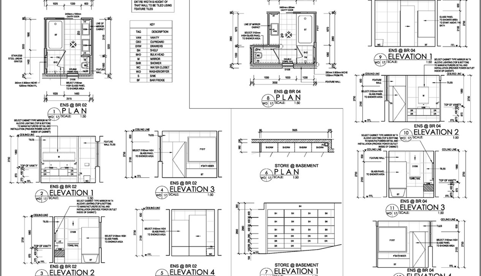 Building Plan with Joinery Drawing Set by Amores Design