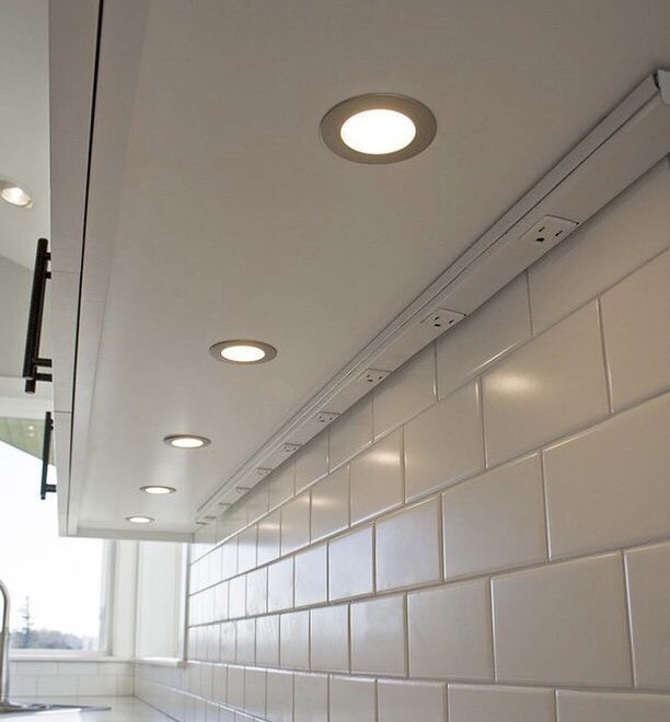 Task lighting is critical in a kitchen