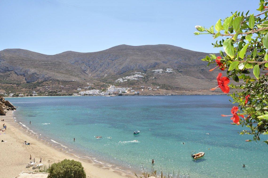 Levrossos beach beautiful sandy beach walk from Aegiali transfer ...