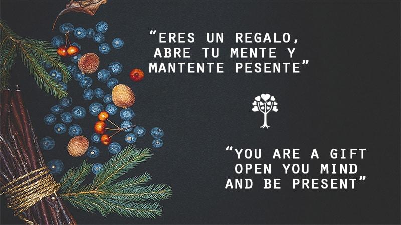 Gift Open Mind Present Regalo Mente Abierta Presente 20181120 - Eres un regalo; abre tu mente, mantente presente