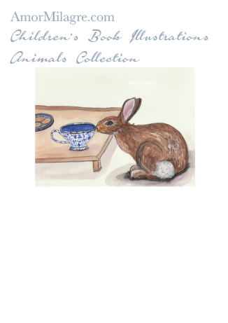 Amor Milagre Children's Book Animals Illustrations The Bunny Rabbit's Tea Party beautiful for all spaces and ages, especially in a nursery amormilagre.com