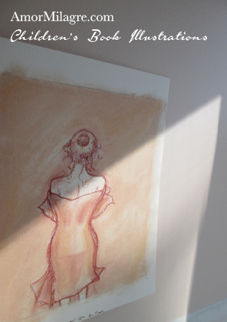 Amor Milagre Children's Book Illustrations Woman after A Bath detail 3 amormilagre.com
