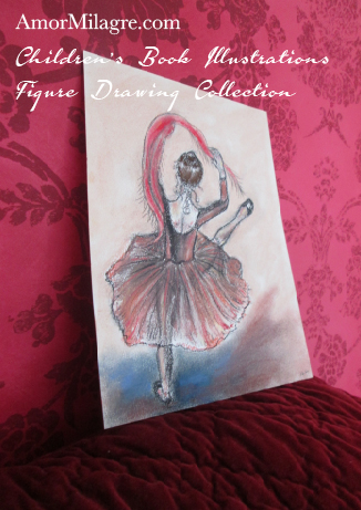 Amor Milagre Children's Book Illustrations Gypsy Ballet Dancer Sage Dances detail 10 amormilagre.com