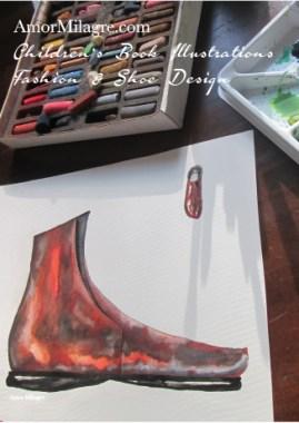 Amor Milagre Fashion & Shoe Design 1 Children's Book Illustrations Shoe Design Book Cosimo Brown Boot 3 Leather Shoe Design amormilagre.com All Rights Reserved © Amor Milagre 2017