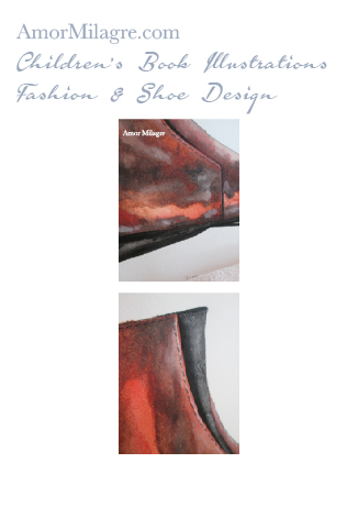 Amor Milagre Fashion & Shoe Design 1 Children's Book Illustrations Shoe Design Book Cosimo Brown Boot Leather Shoe Design amormilagre.com
