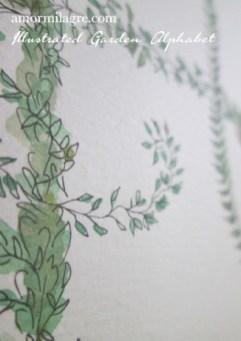 Illustrated Garden Alphabet Letter H-d Amor Milagre amormilagre.com