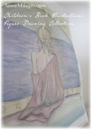 Amor Milagre Mermaid Woman Meditating on the Ocean The Shop at Dove Cottage Children's Book Illustrations beautiful for all spaces and ages, especially in a nursery amormilagre.com