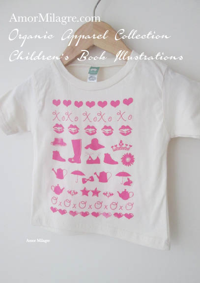 b6542eb36 Amor Milagre Pink Girls 1 Organic Cotton Toddler Graphic Tee Shirt  Collection Children's Book Unisex amormilagre