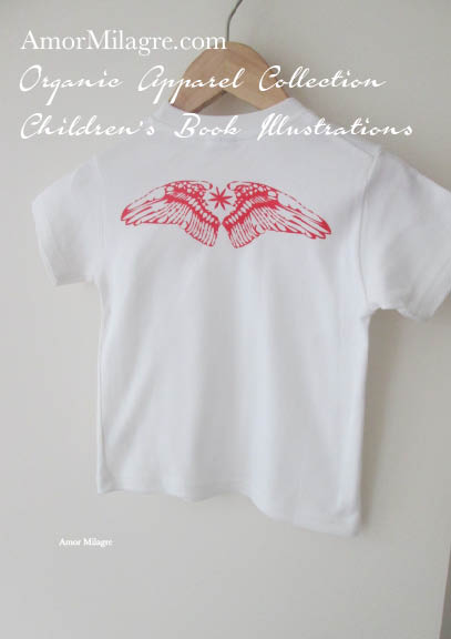 21c8d7c59 Amor Milagre Red Bird Wings 1 Organic Cotton Toddler Graphic Tee Shirt  Collection Children's Book Unisex
