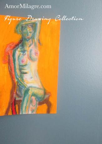 Amor Milagre Woman Sitting after a Bath Nude Figure Drawing Collection amormilagre.com