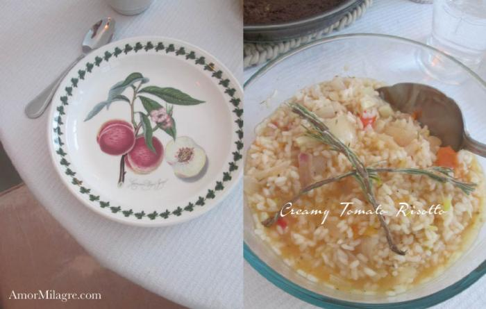 Amor Milagre Creamy Italian Tomato Rosemary Risotto Recipe and Photography by amormilagre.com Organic, Vegan Vegetarian, Plant-based, Healthy. Artwork, Stationery, Organic Apparel, and Custom Gifts. Baby and Me Meal Snack, Garden